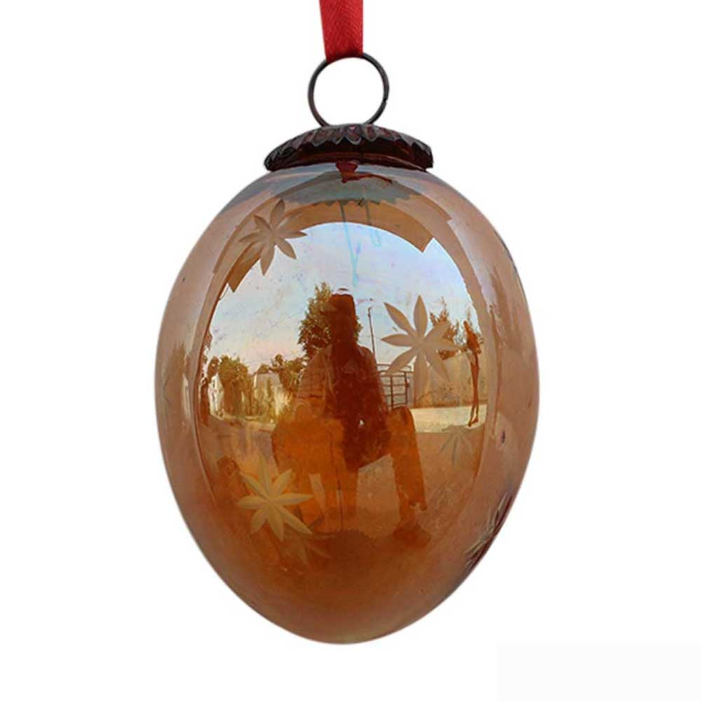 Amber Avocado Star Cut Christmas Hanging