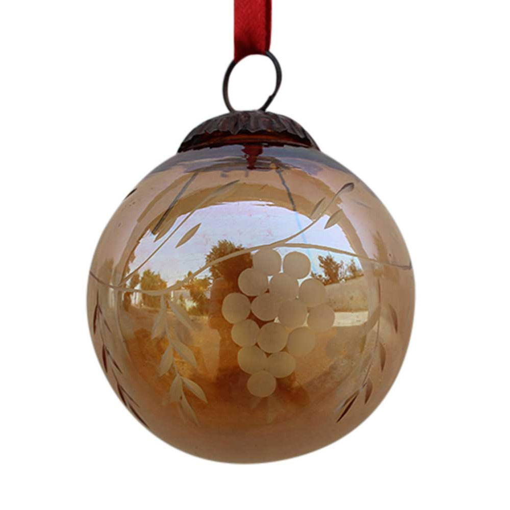Amber Plum Grapes Cut Christmas Hanging