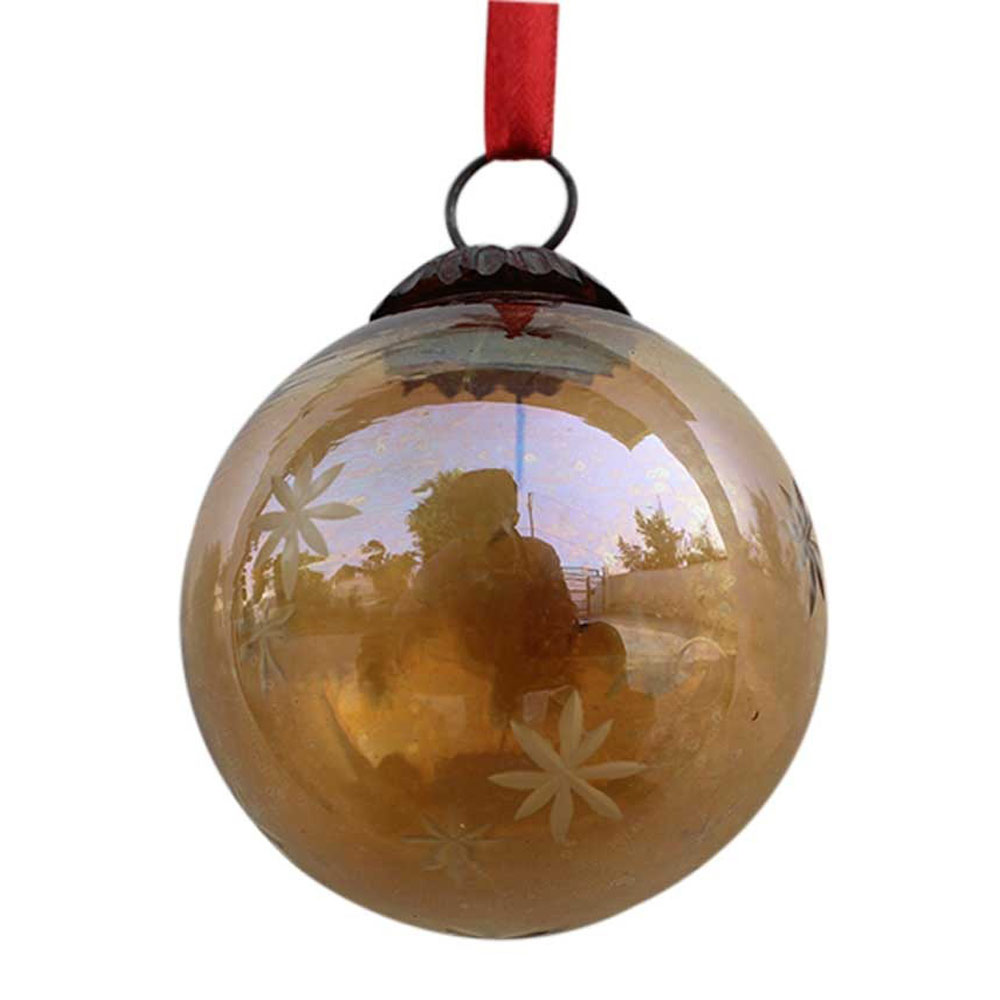 Amber Plum Star Cut Christmas Hanging