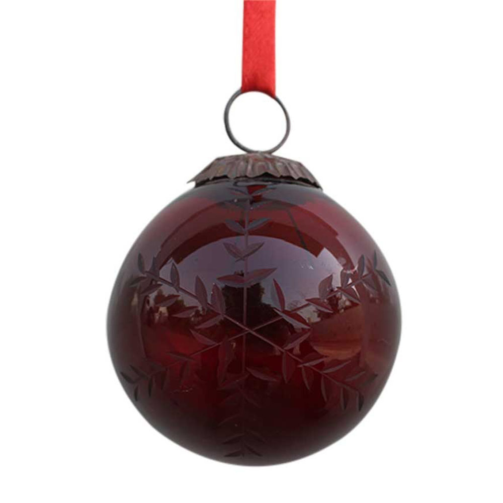Blood Red Plum Leaf Cut Christmas Hanging-1