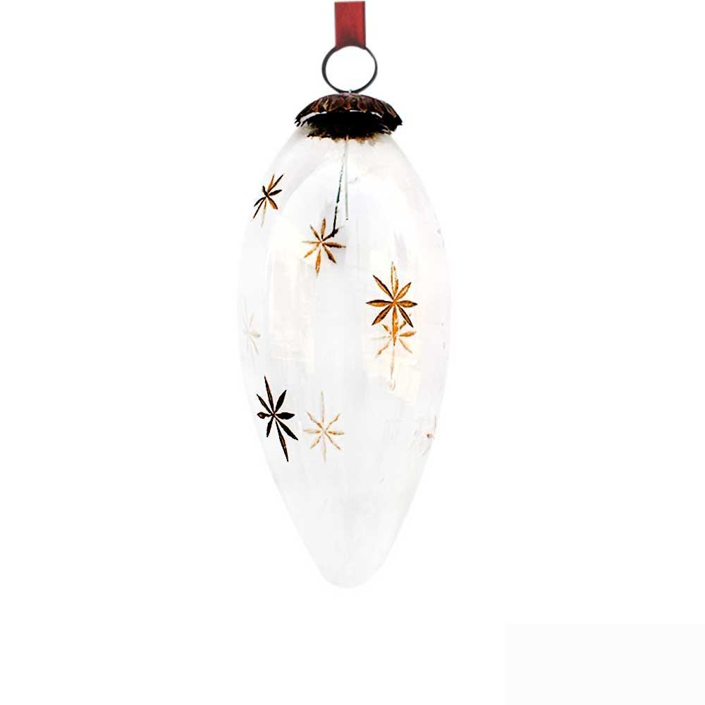 Clear Parsnips Golden Star Christmas Hanging