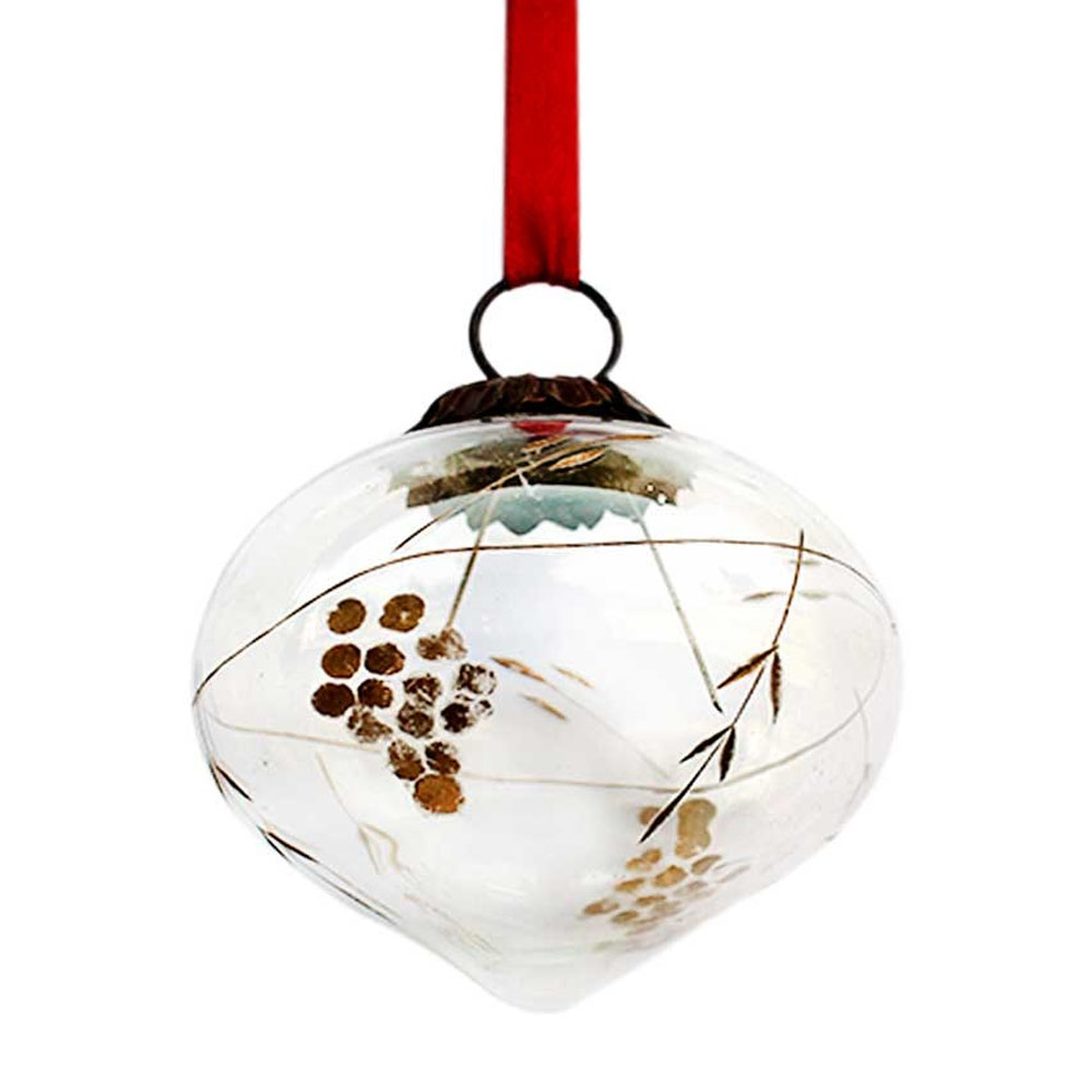 Clear Turnip Golden Grapes Cut Christmas Hanging