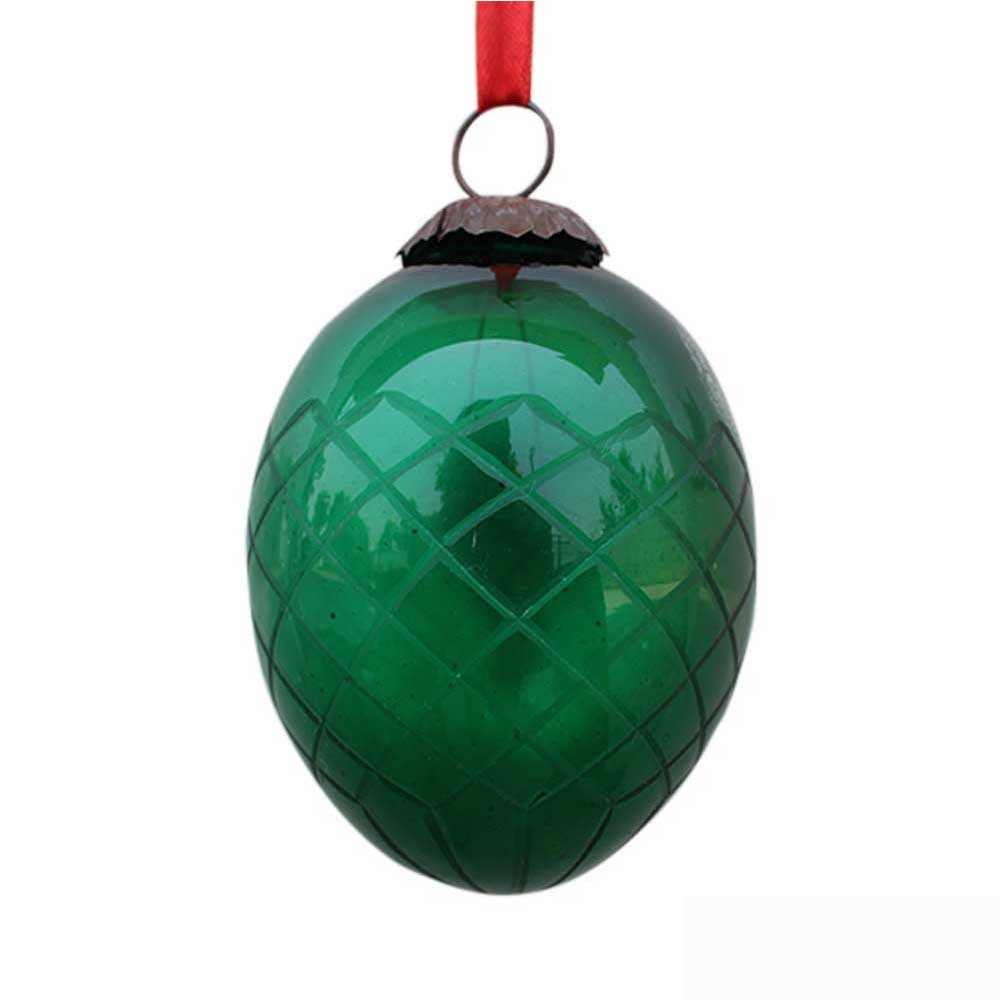 Green Avocado Box Cut Christmas Hanging