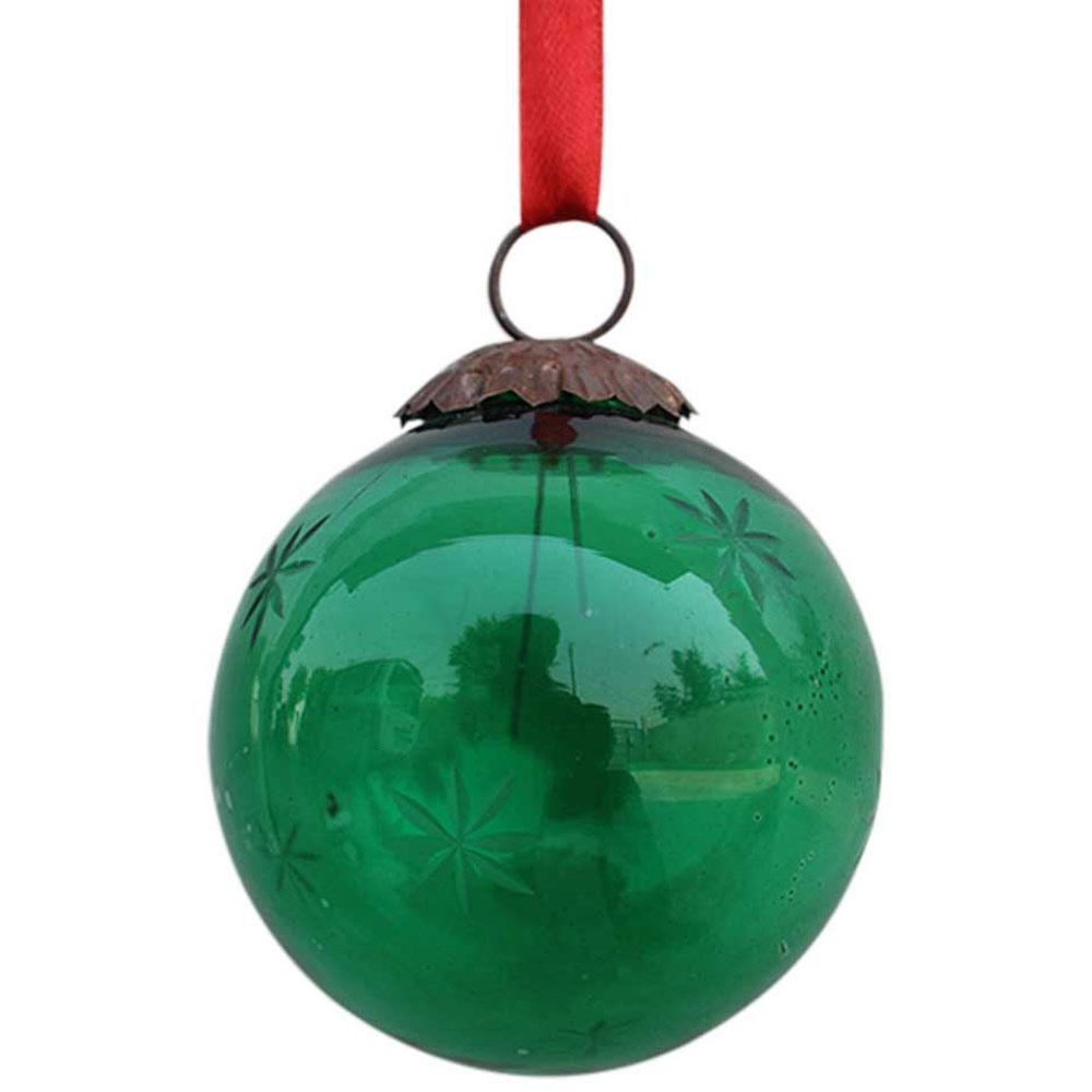 Green Plum Star Cut Christmas Hanging