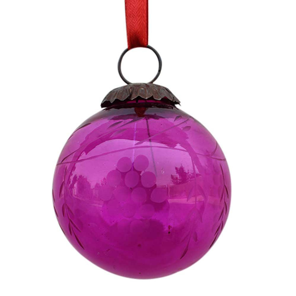 Queen Pink Plum  Grapes Cut Christmas Hanging