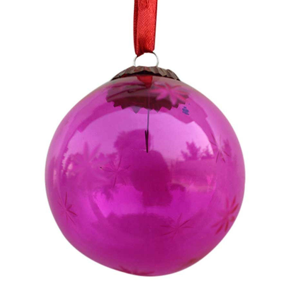 Queen Pink Plum Star Cut Christmas Hanging
