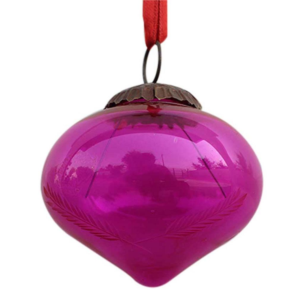 Queen Pink Turnip Leaf Cut Christmas Hanging