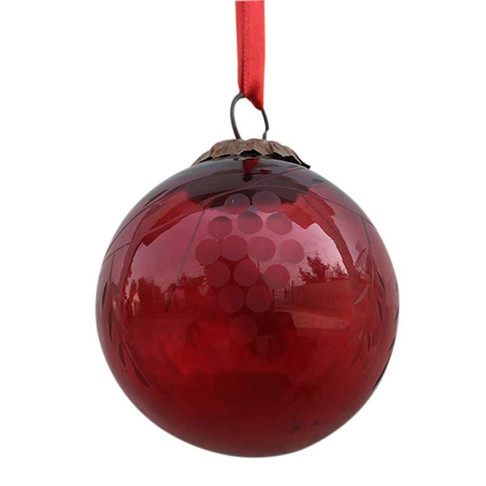 Red Plum Grapes Cut Christmas Hanging
