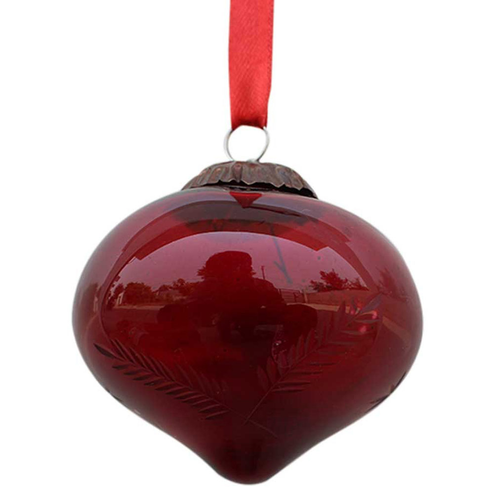 Red Turnip Leaf Cut  Christmas Hanging