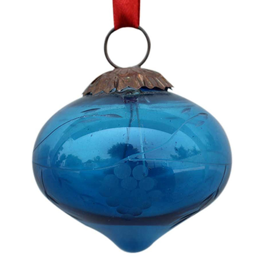 Turquoise Turnip Grapes Cut Christmas Hanging