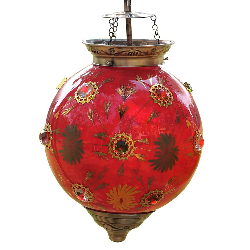 Red Flower Lamp