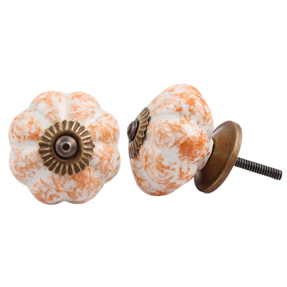 Sprinkled Orange Knob