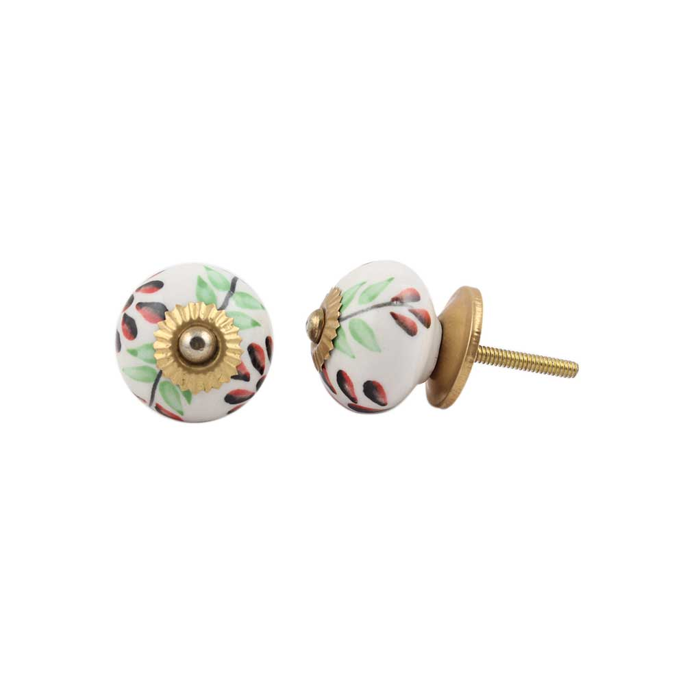 Green Leaf Ceramic Drawer Knob Online