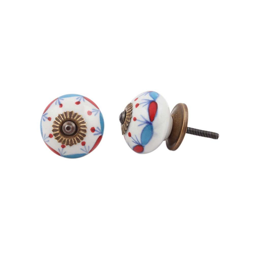 Blue Red Design Knob