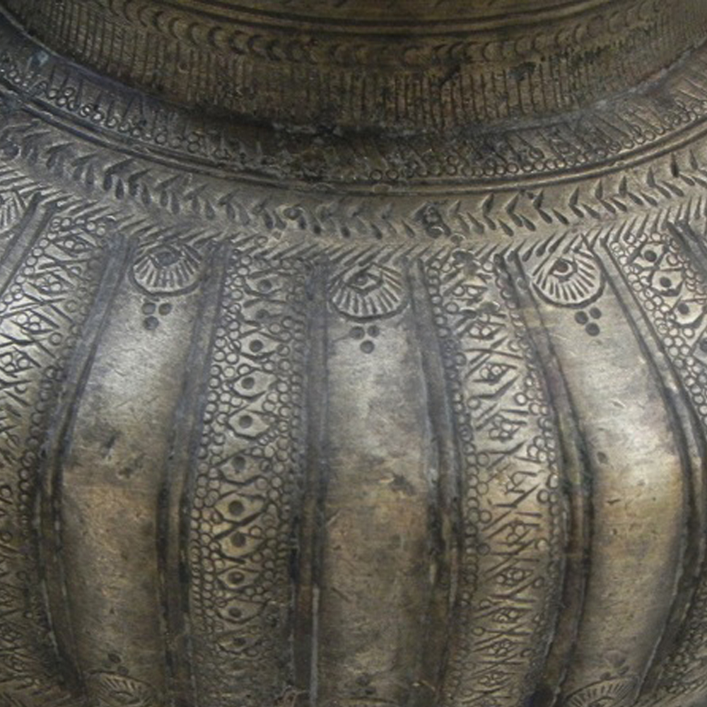 Engraved  Pooja Hand Crafted Bronze Water Pot Lota