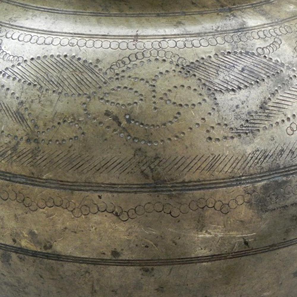 Vintage Bronze Broad Base Milk Pot