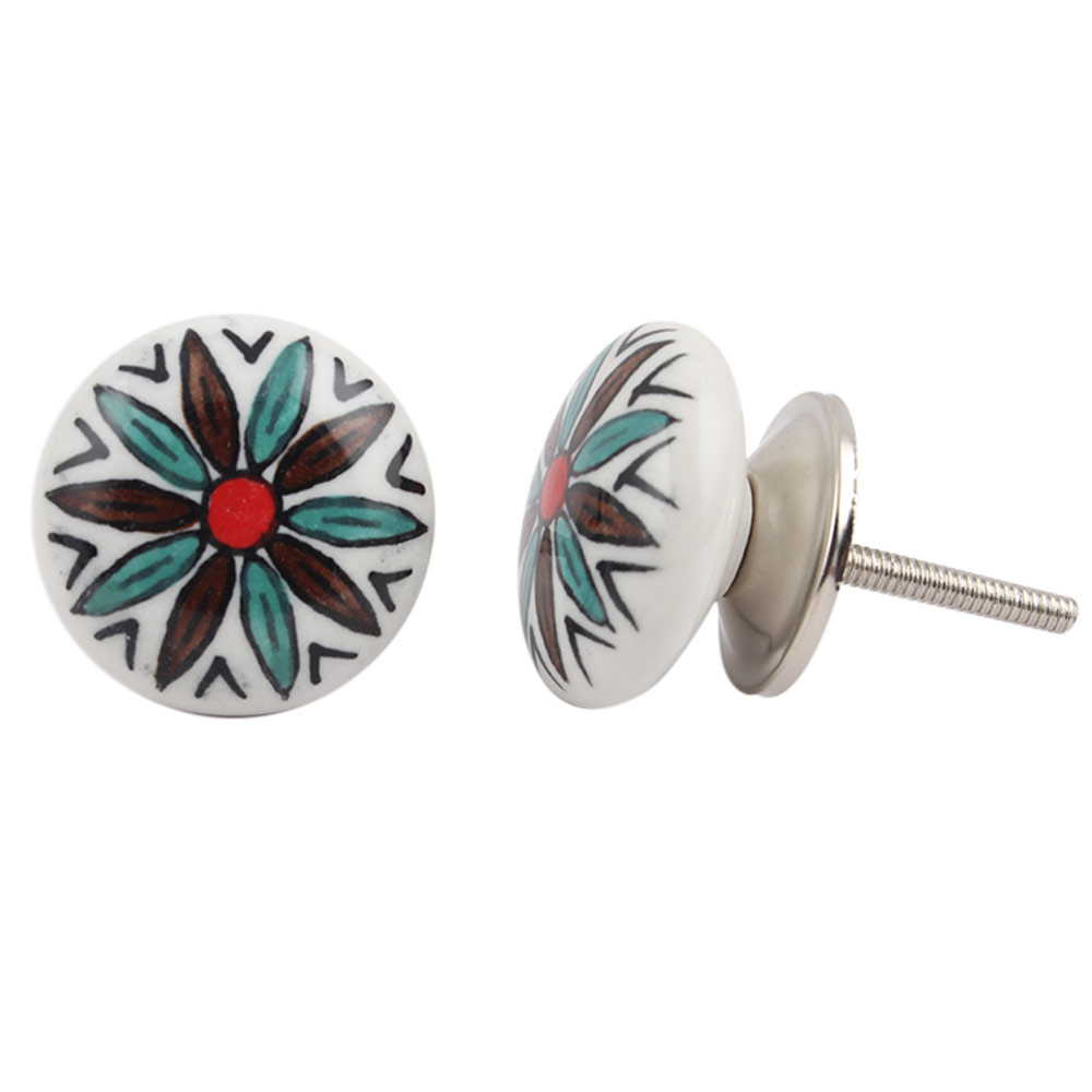 Sunflower Pattern Knob