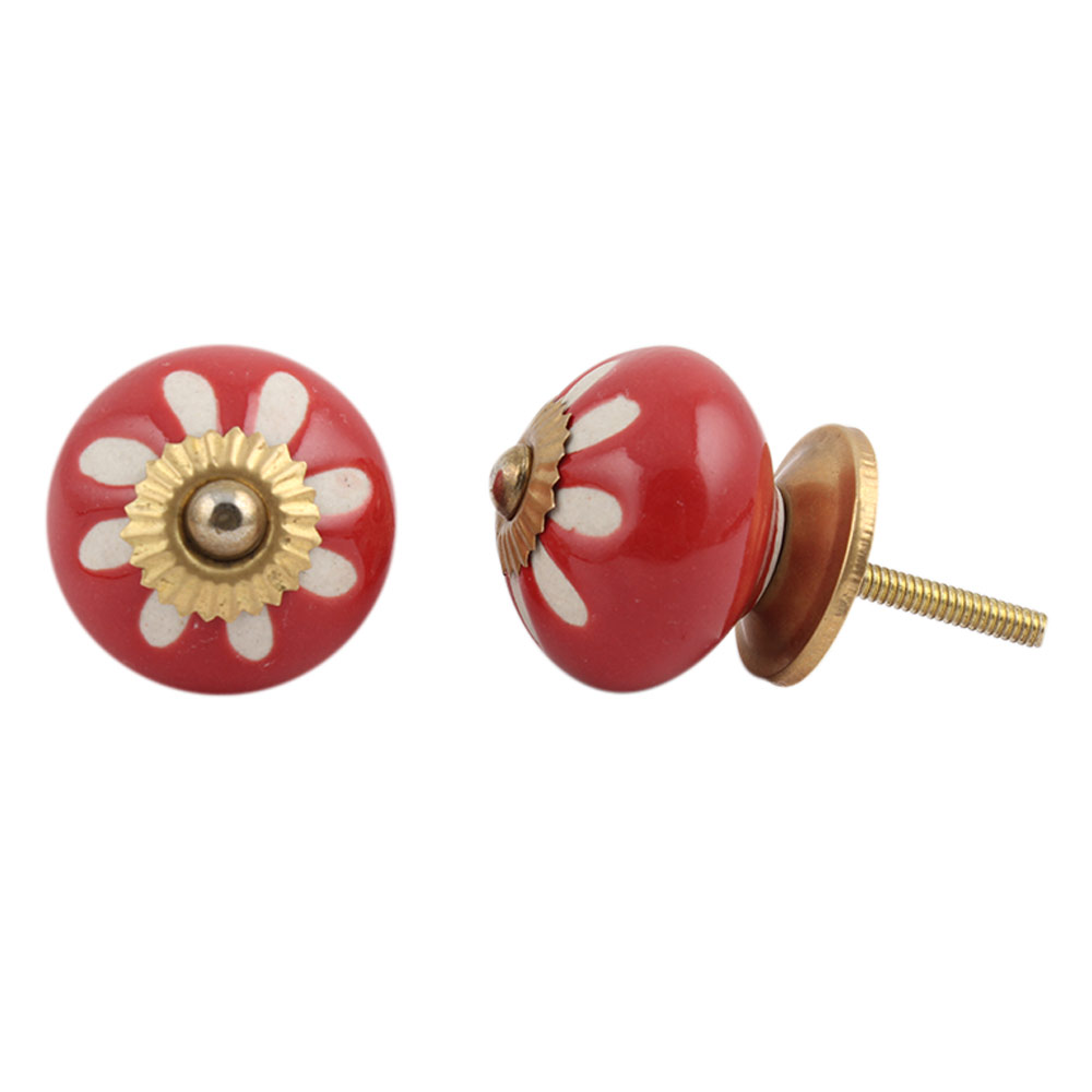 Red Etched Ceramic Knob-20