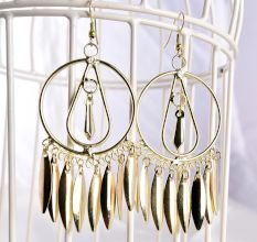 Golden Tribal with Golden Tassel Women Earrings