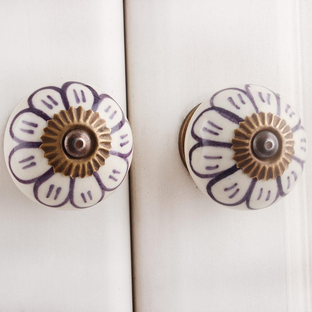 Purple Sunflower Knob