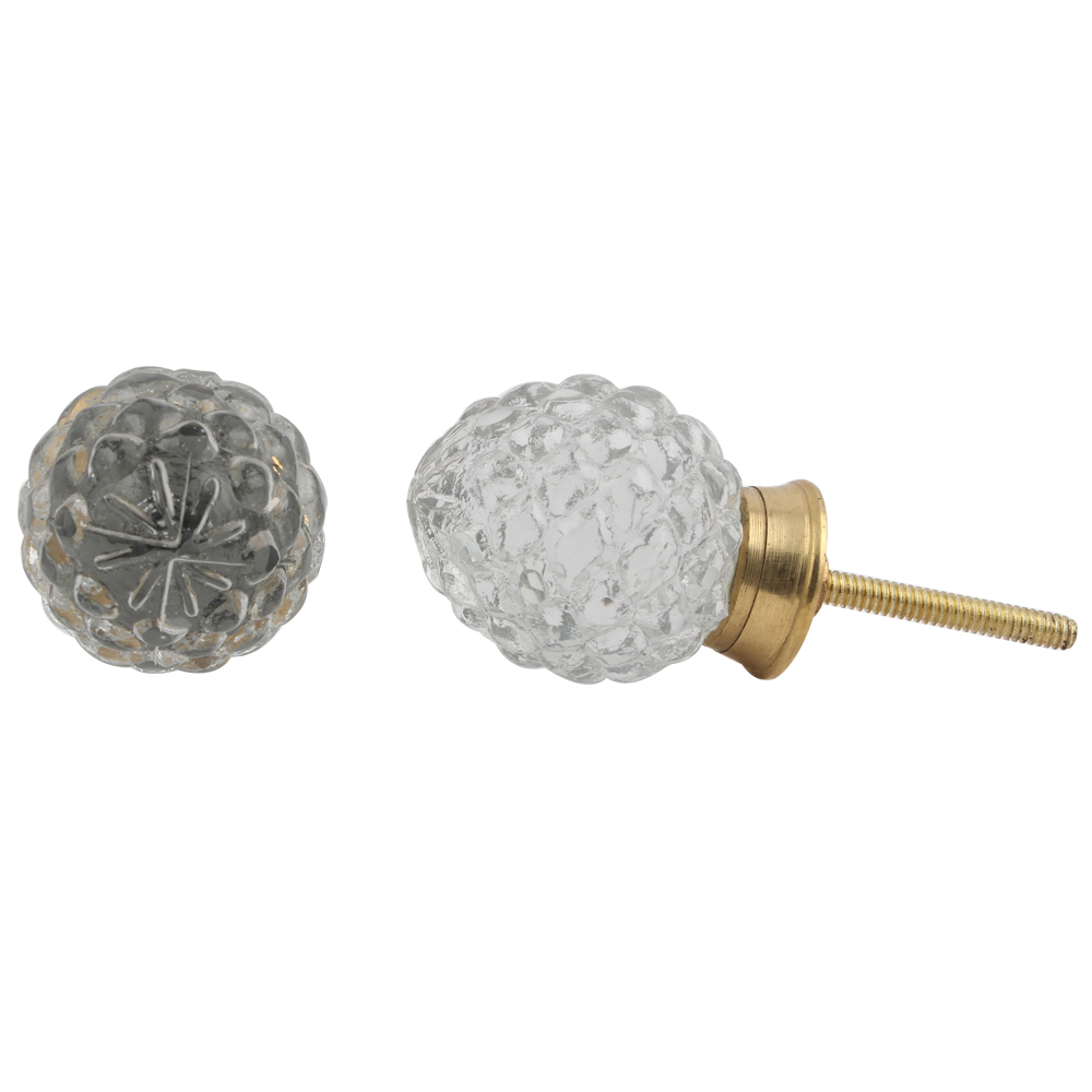 Custard Apple Glass Dresser Knob