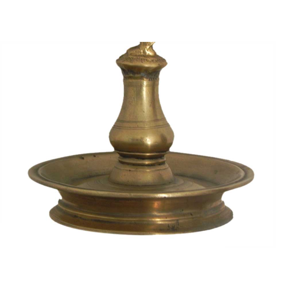 Bronze Oil Lamp-29 (Ht-9.5 Inches)