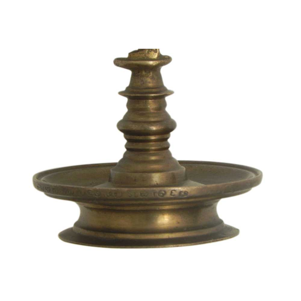 Bronze Oil Lamp-30 (Ht-8.5 Inches)