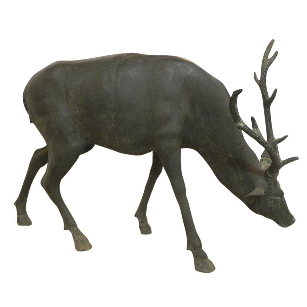 Life Size Bronze Deer