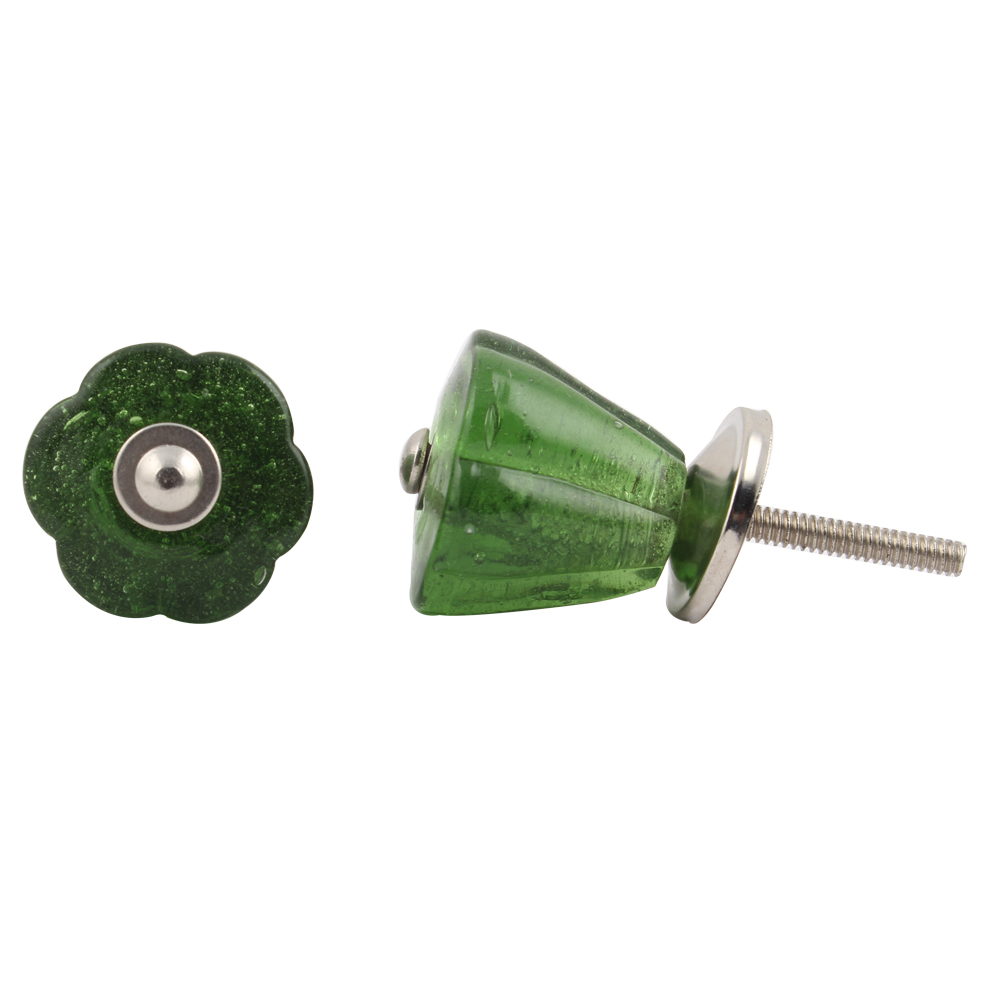 forest Green Tulip Knob