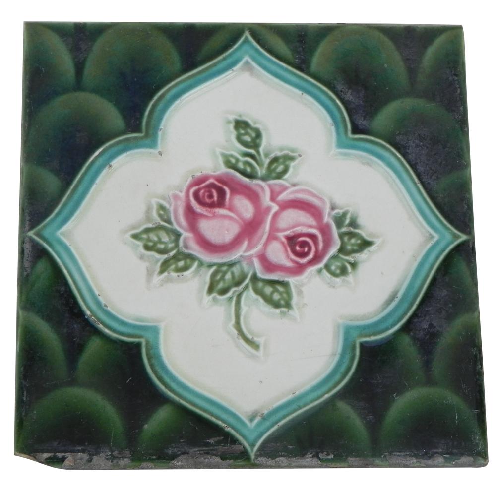 Cherry Rose Flower Tile