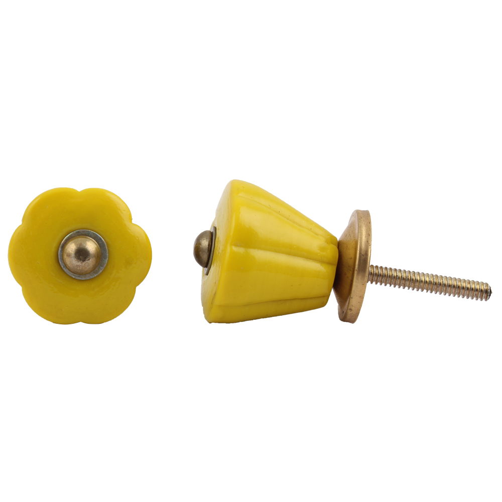 Yellow Tulip Knob