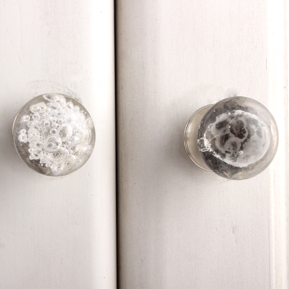 Clear Bubble Tiny Cabinet Knobs