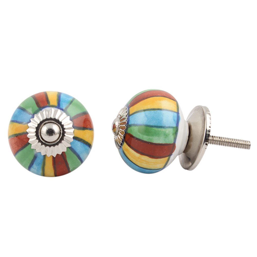 Mix Striped Ceramic Knob