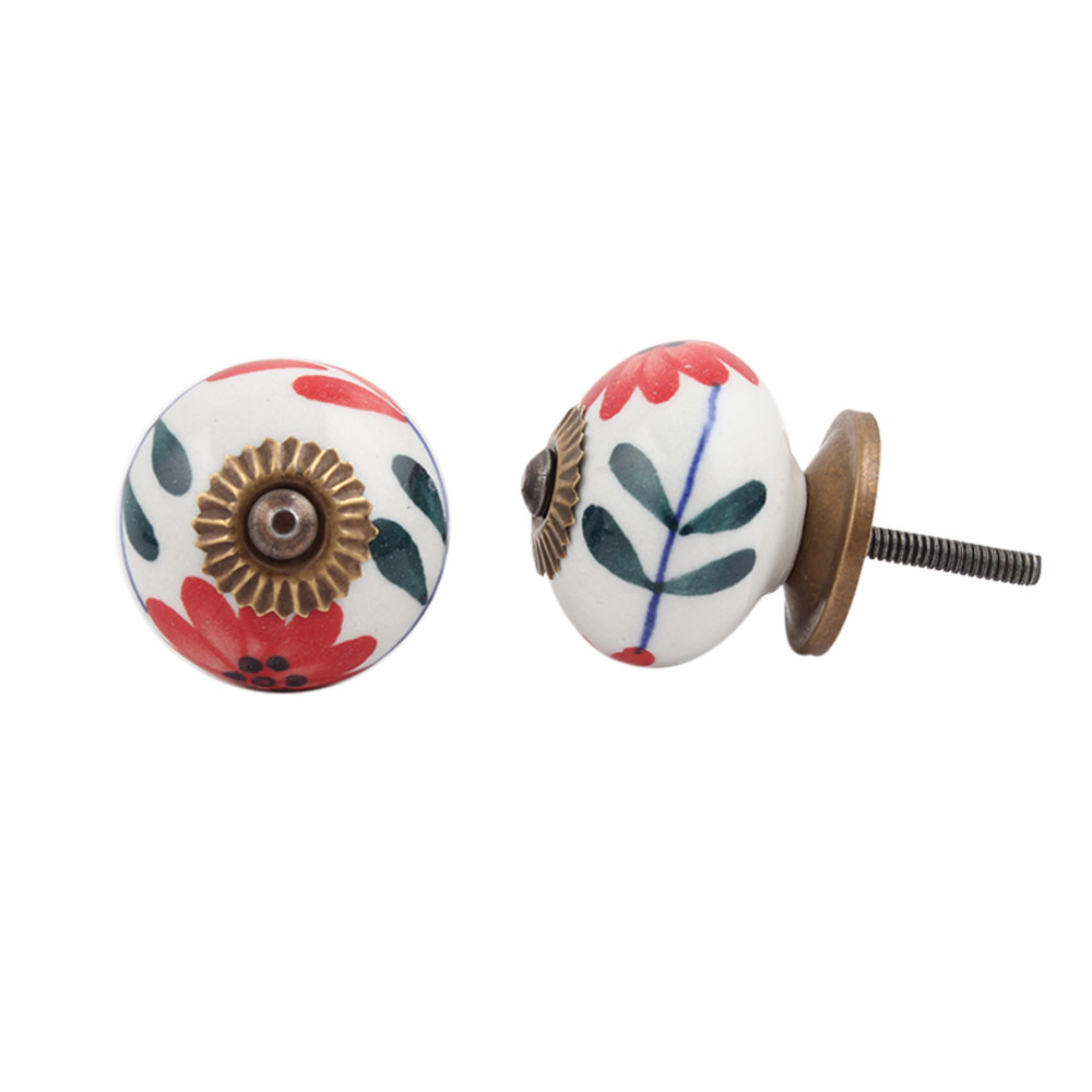 Mini Carnation Ceramic Knob