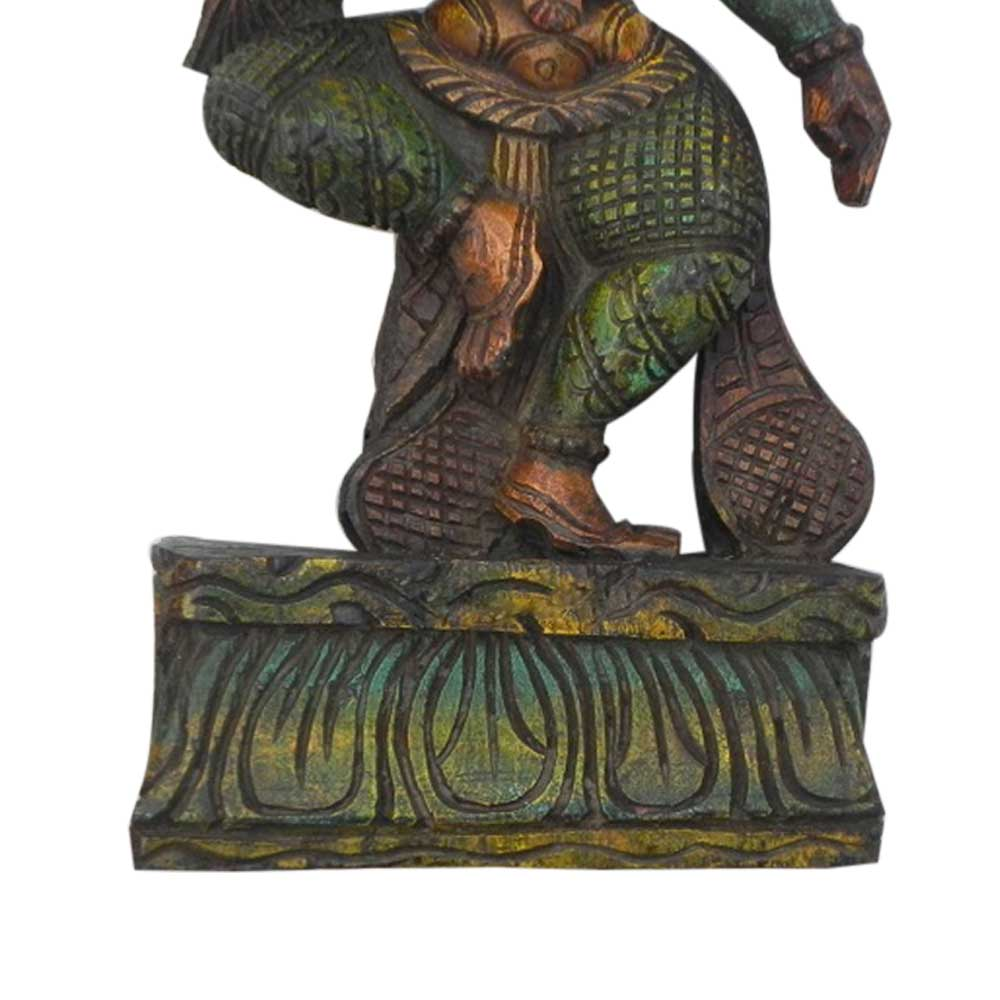 Wooden Parvati Statue-01