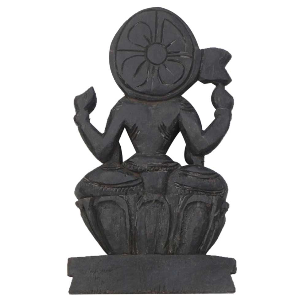 Wooden Lakshmi Ji Statue-01