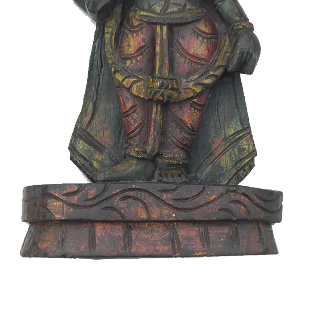 Wooden Narsingh Vishnu Statue