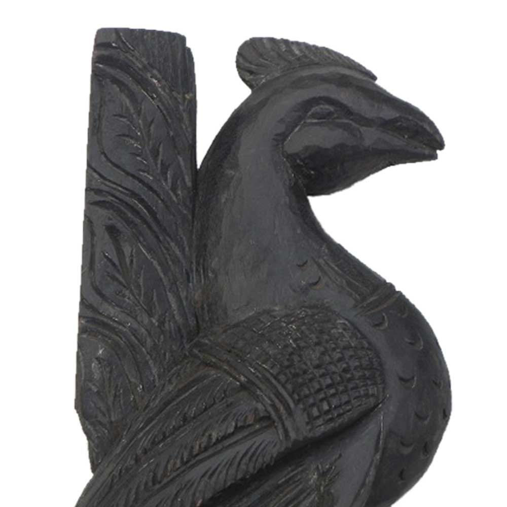 Wooden Welcome Peacock Statue