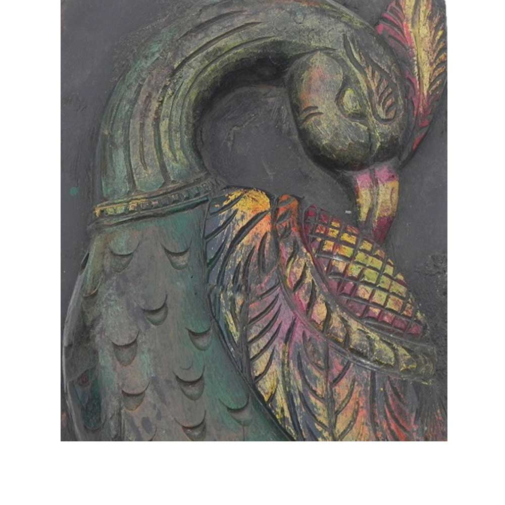 Peahen Wall Hanging-04