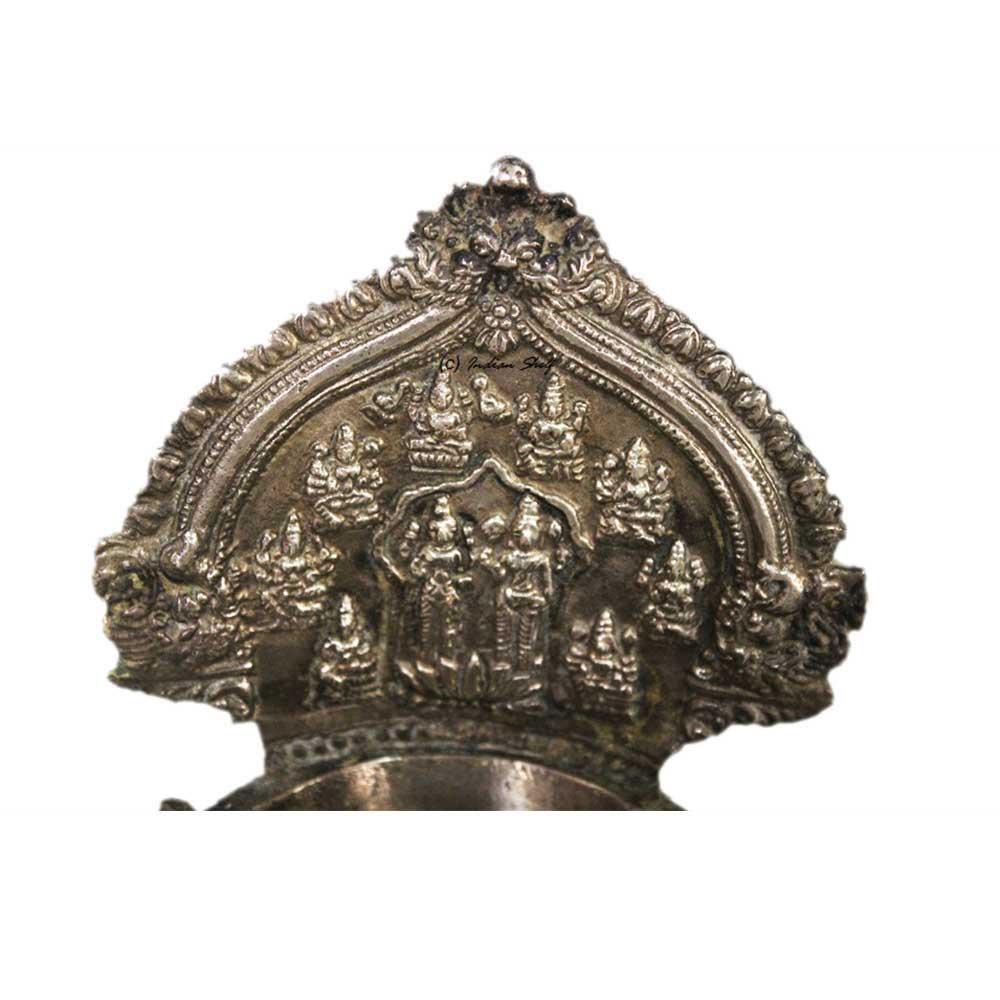 Laxmi Narayan Brass Lamp (Ht-6.5 Inches)