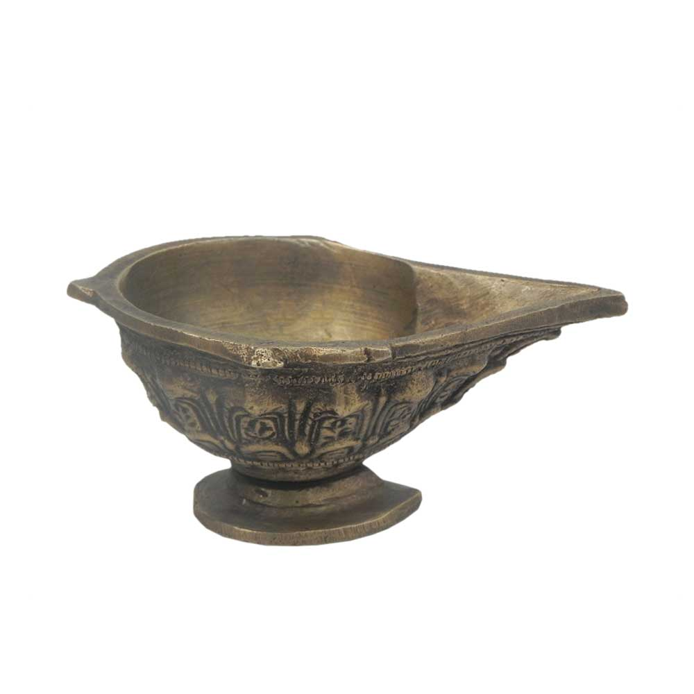 Bronze Oil Lamp-35 (Ht-2 Inches)