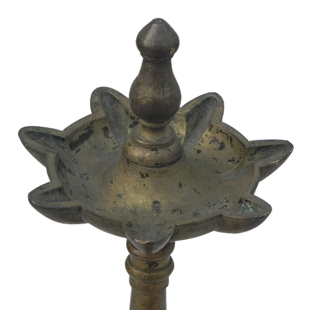 Bronze Oil Lamp-42 (Ht-11.5 Inches)