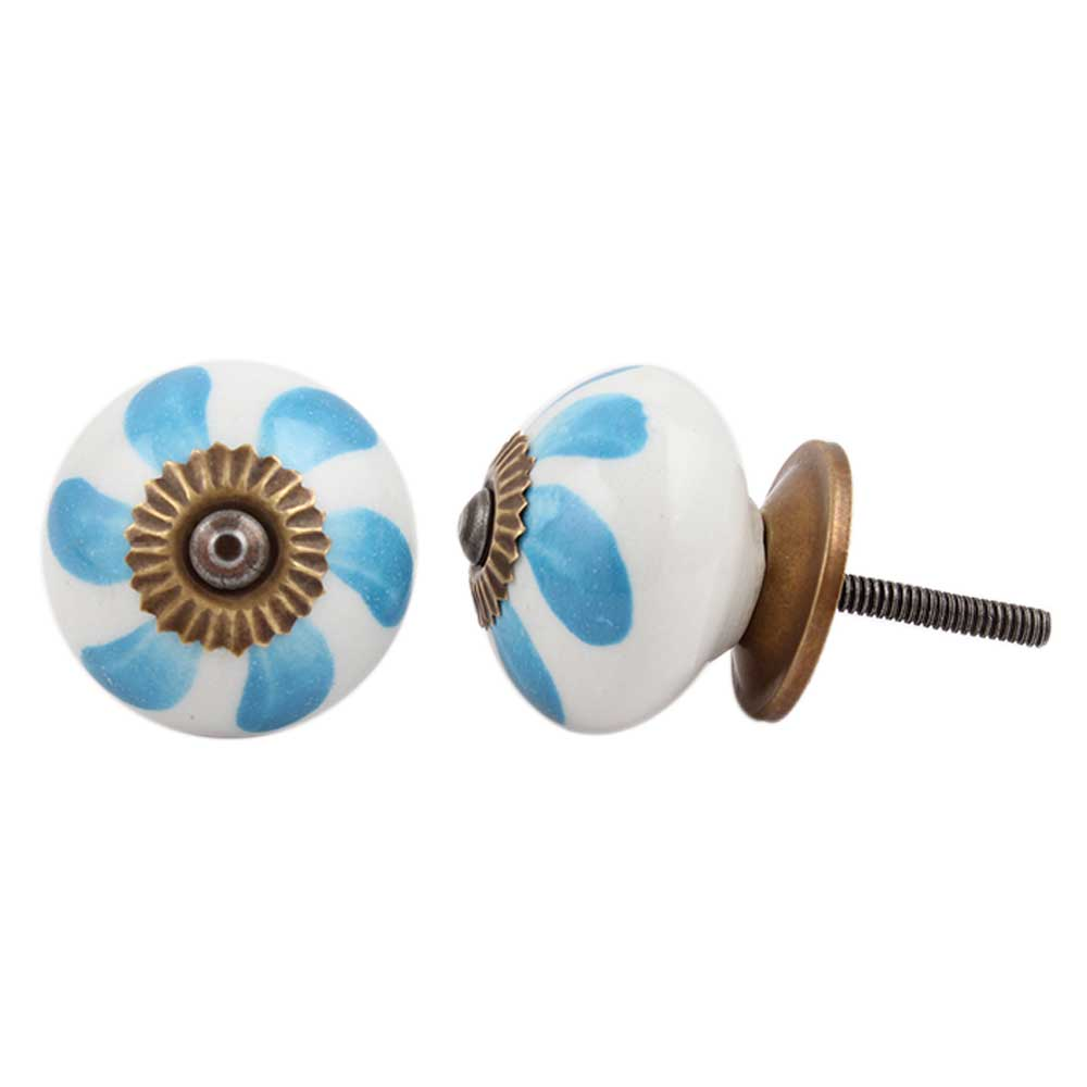 Light Blue Fan Knob