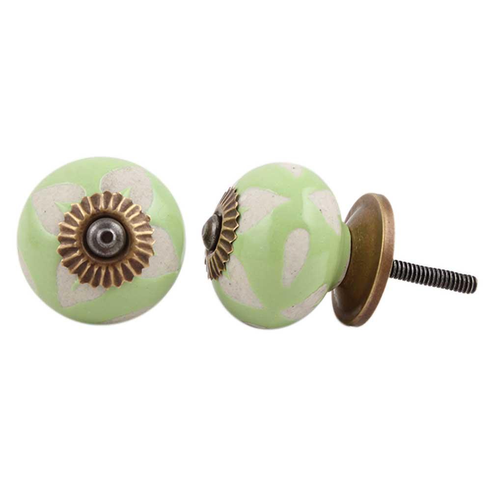 Light Green Etched Ceramic Knob-32