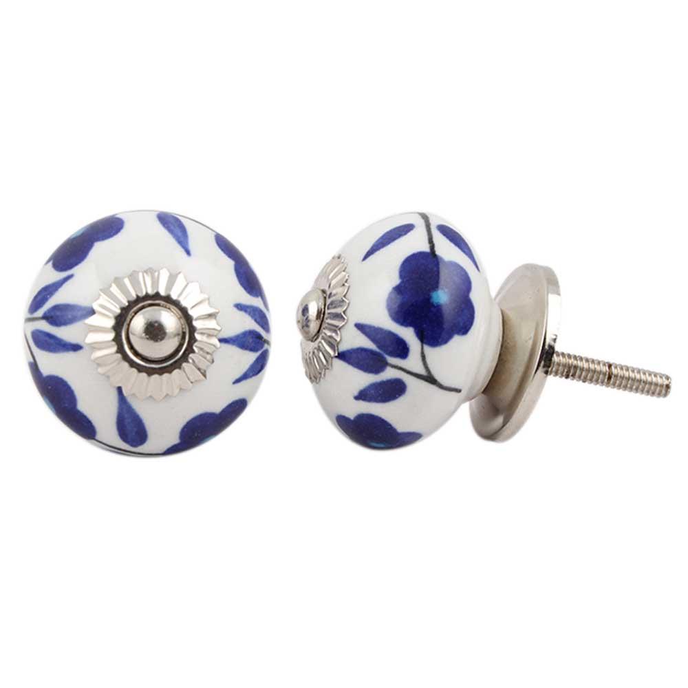 Geranium Ceramic Knob