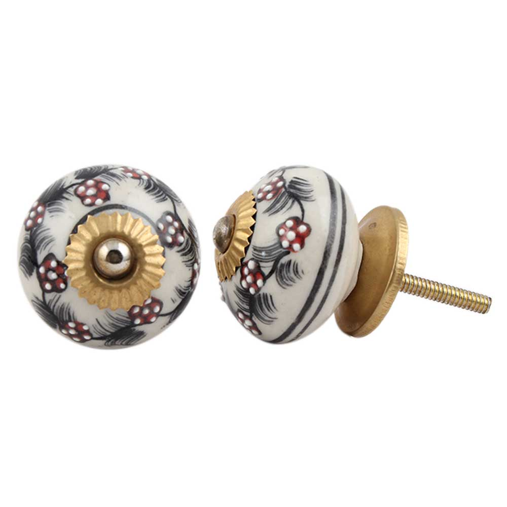 Cherry Tiny Flower Drawer Knob