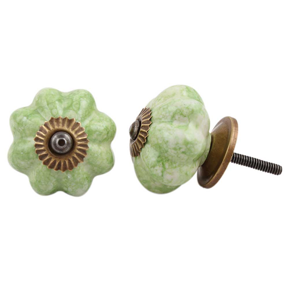 Sea Green Melon Drawer Knob