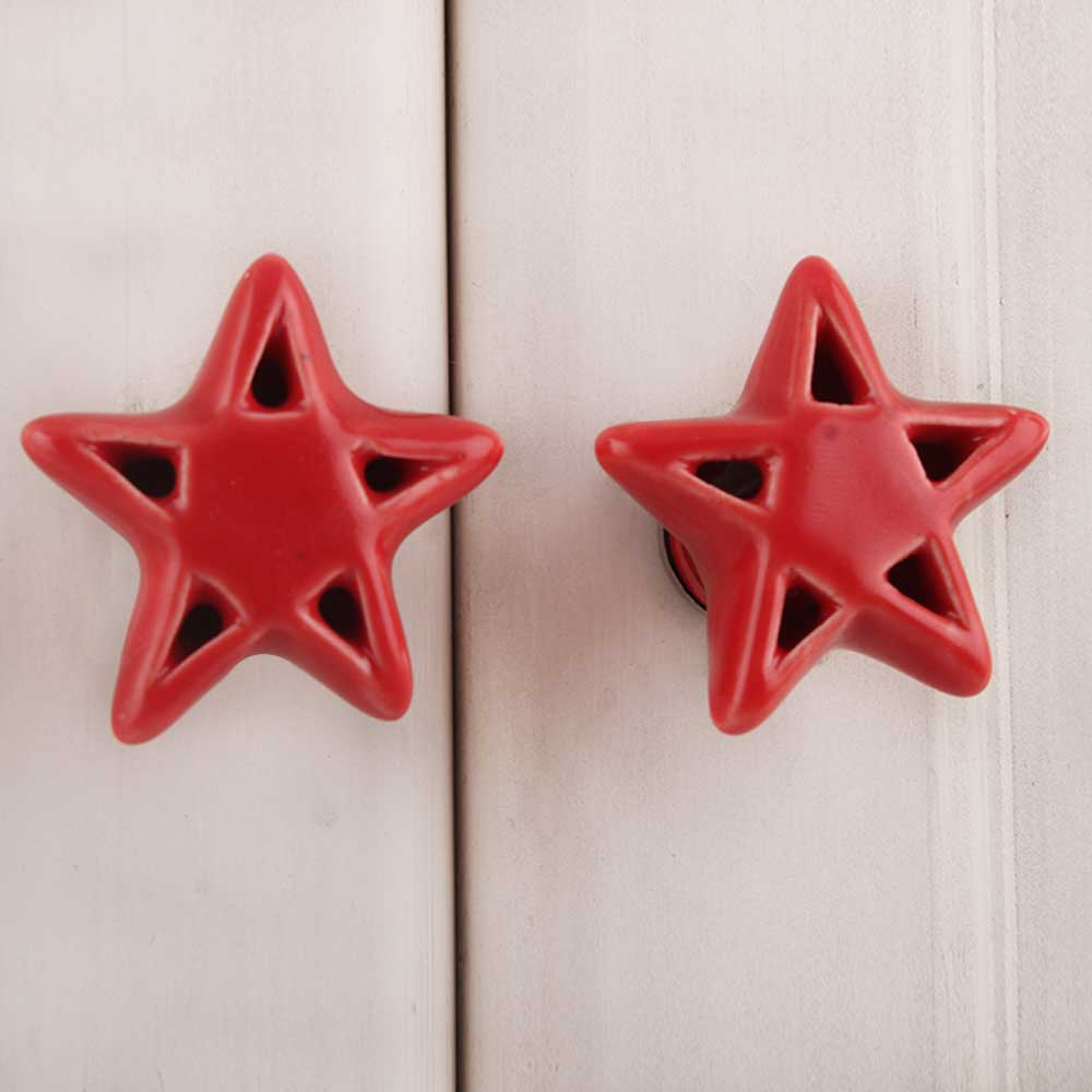 Red Star Ceramic Knob