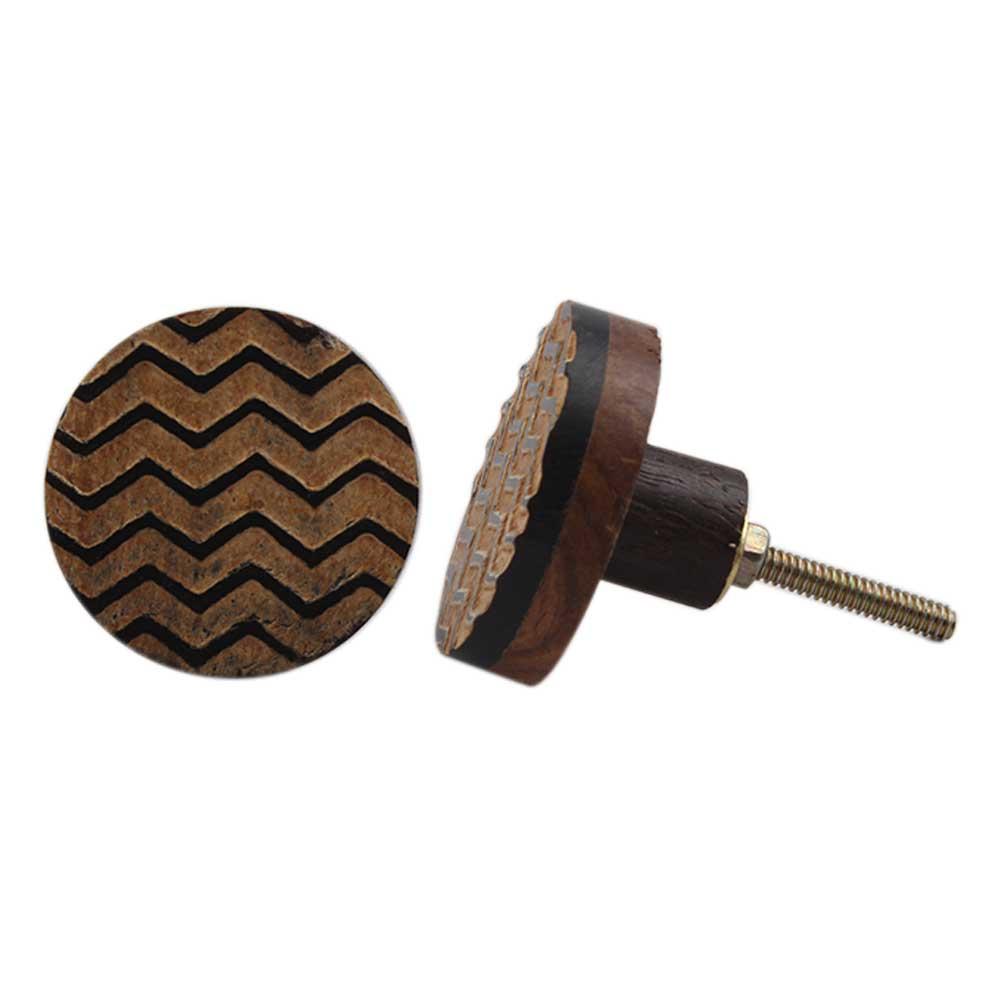 Horn Wooden Wave Knob