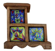 Spice Box-614 Masala Rack Gift Item